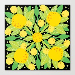 When life gives you lemons, make a lemon pattern Canvas Print