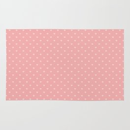 Two Tone Bright Blush Pink Mini Love Hearts Rug