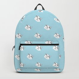 Derp Cat in Blue Backpack