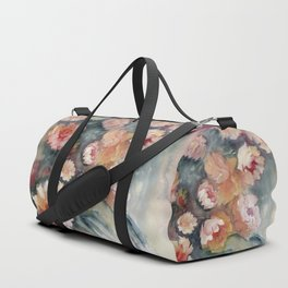 Floral Impressionist Watercolor Duffle Bag