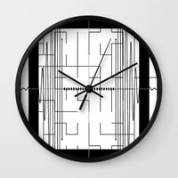 math Wall Clocks featuring Math by CrypticFragments Design