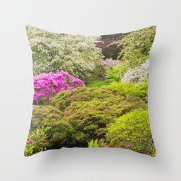 Asticou Azelea Garden, Northeast Harbor, Mount Desert Island Maine Throw Pillow
