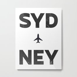Sydney minimal Metal Print