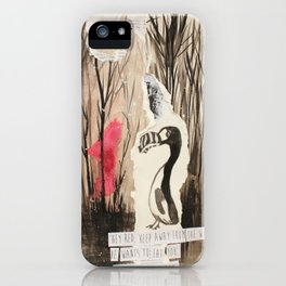 Little Red and Great Auk iPhone Case