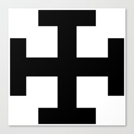 Krückenkreuz Crutch Cross Martial Heathen symbols Canvas Print