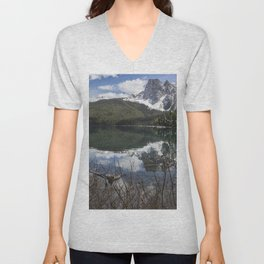 Looking South Towards Mt Burgess from Emerald Lake Unisex V-Neck