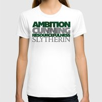 slytherin T-shirts featuring Slytherin by Fanboy's Canvas