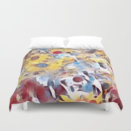 Sun flower fields (2016) Duvet Cover