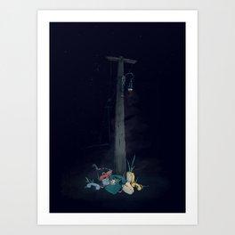 Landline Graveyard Art Print