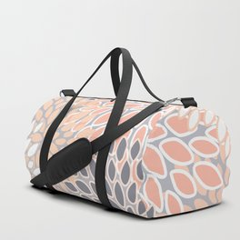 Flowers Abstract Print, Coral, Peach, Gray Duffle Bag