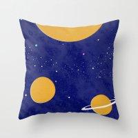 solar system Throw Pillows featuring Solar System by Quinn Shipton
