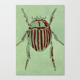 Bug Etching 2 Canvas Print