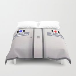 Bathroom Humor Duvet Cover