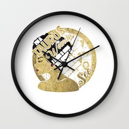 I'm A Taurus Woman I Have 3 Side The Quiet & Sweet The Fun & Crazy And The Side You Never Want To See Wall Clock