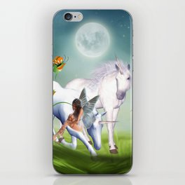 Einhorn und Fee - Unicorn and Fairy iPhone Skin