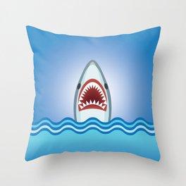 Cartoon Shark Throw Pillow