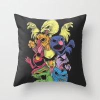 sesame street Throw Pillows featuring A Sesame Street Thriller by Anwar Rafiee