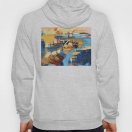 West End Blues Abstract Expressionism Painting Hoody