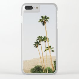sunrise in the palm desert Clear iPhone Case