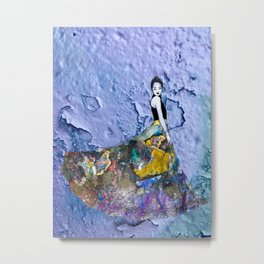 Woman in lila Metal Print