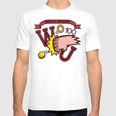 Wreck-It Ralph: Wreck-It University White SMALL Mens Fitted Tee