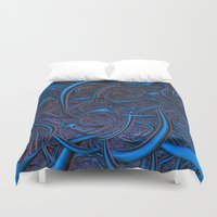 nightmare Duvet Covers featuring Nightmare by Lyle Hatch