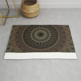 Mandala in brown tones Rug
