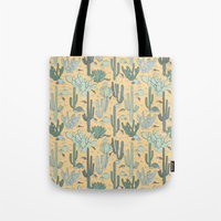 guns Tote Bags featuring Succulent Guns by LaPenche