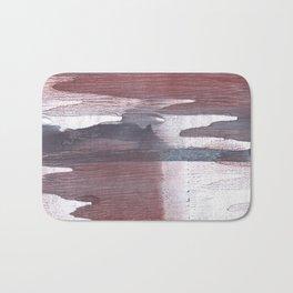 Gray claret wash drawing design Bath Mat