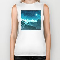 outer space Biker Tanks featuring Outer Space Mountains by Phil Perkins