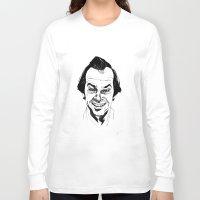 jack nicholson Long Sleeve T-shirts featuring Jack Nicholson by Giorgia Ruggeri