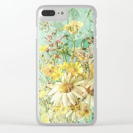 Boho Daisies and Buttercups Clear iPhone Case