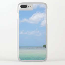 Lone Tree in Paradise Island Clear iPhone Case