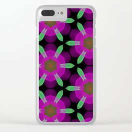 Abstract Spawning Green Fish Geometric Pattern Clear iPhone Case