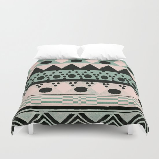 PASTEL NORDIC TRIBAL  Duvet Cover