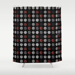 emo rap hell Shower Curtain