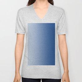 Pastel Blue to Blue Vertical Linear Gradient Unisex V-Neck