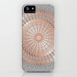 Rose Gold Gray Mandala iPhone Case