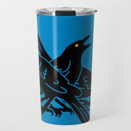Grackles, the most diabolical birds, take over Austin, Texas Travel Mug