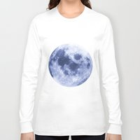 luna Long Sleeve T-shirts featuring Luna by Tobias Bowman