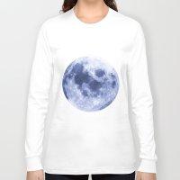 luna Long Sleeve T-shirts featuring Luna by Tobias Bowman