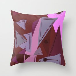 Cages at the Border Burgundy Tones #Abstract #Geometric #PoliticalArt Throw Pillow