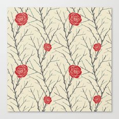 Branch & Roses Canvas Print