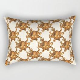Scientific Orange Octopus Rectangular Pillow