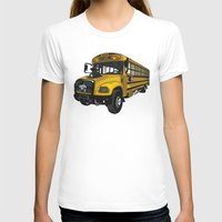 school T-shirts featuring School bus by mangulica illustrations