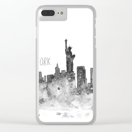 New York art Clear iPhone Case