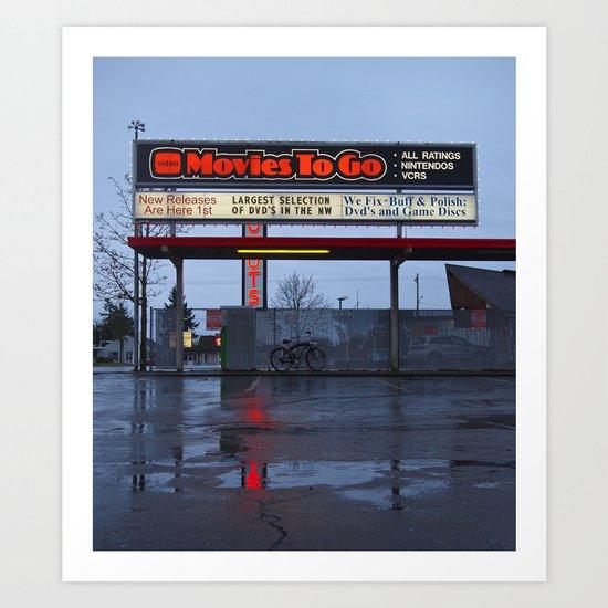Movies To Go Art Print
