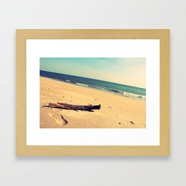 Bark by the beach Framed Art Print