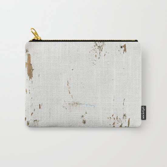 Vintage White Wood Carry-All Pouch