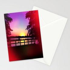 Warm Summer Nights at Dusk Stationery Cards